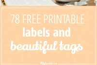 Free Printable Labels And Beautiful Tags – Tip Junkie with regard to Templates For Labels For Jars