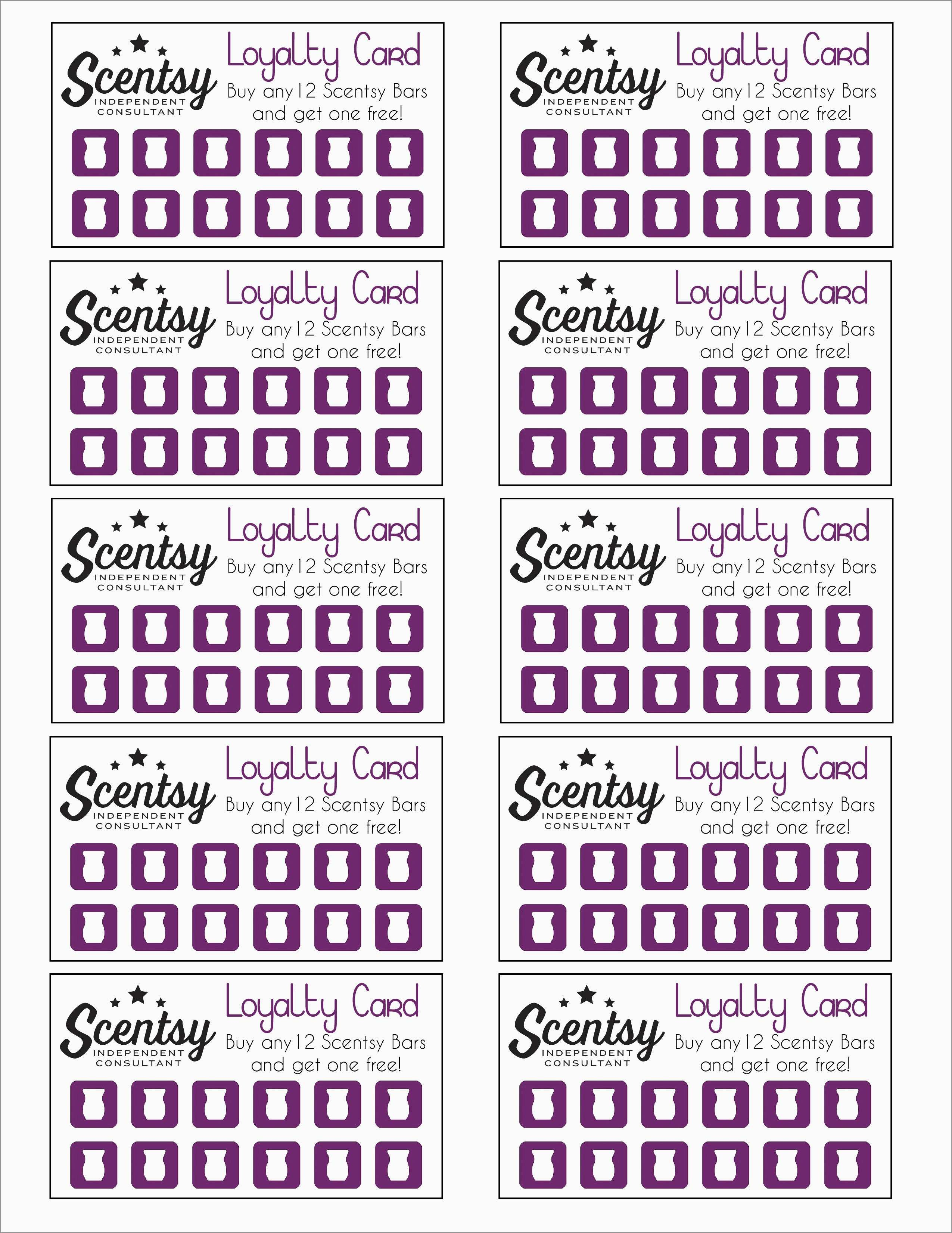 Free Printable Loyalty Card Template Fabulous Scentsy Loyalty Card Pertaining To Customer Loyalty Card Template Free