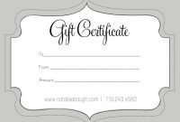 Free Printable Massage Giftte Templates Form Salon X intended for Massage Gift Certificate Template Free Download