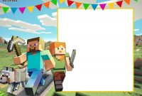 Free Printable Minecraft Birthday Invitation Template   Party within Minecraft Birthday Card Template