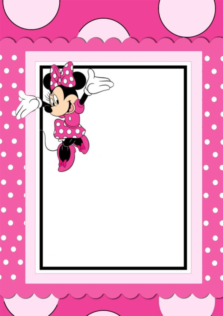 Free Printable Minnie Mouse Invitation Card  Karis Nd Birthday In Throughout Minnie Mouse Card Templates