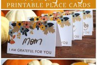 Free Printable Place Card Template Perfect For Your Thanksgiving inside Thanksgiving Place Card Templates
