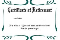 Free Printable Retirement Certificate Templates – Teplates For Every Day pertaining to Retirement Certificate Template