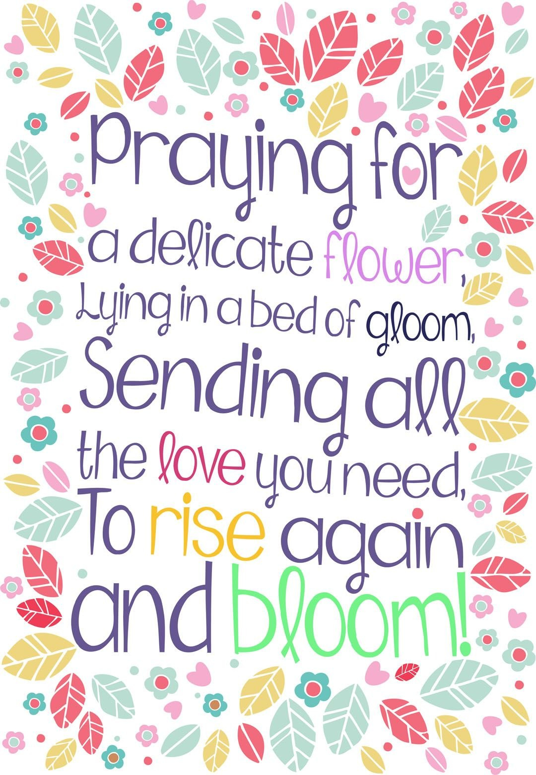 Free Printable 'rise Again And Bloom' Get Well Greeting Card  Get With Get Well Soon Card Template