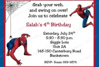 Free Printable Spiderman Birthday Invitation Cards  Niki In throughout Superhero Birthday Card Template
