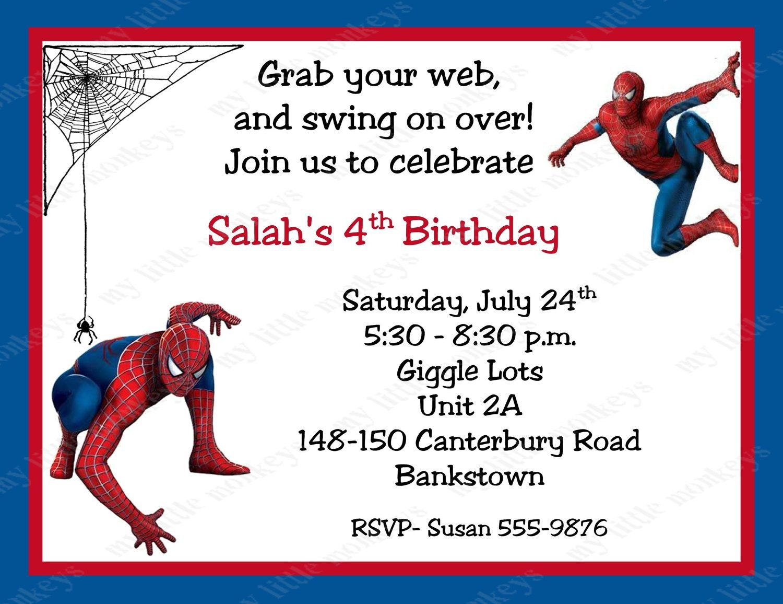 Free Printable Spiderman Birthday Invitation Cards  Niki In Throughout Superhero Birthday Card Template