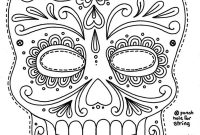 Free Printable Sugar Skull Day Of The Dead Mask Could Use To Make for Blank Sugar Skull Template
