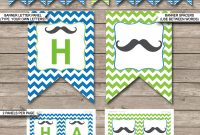 Free Printable Superhero Words Word Mustache Party Banner in Free Printable Party Banner Templates