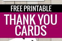 Free Printable Thank You Cards  Freebies  Printable Thank You with Free Printable Thank You Card Template