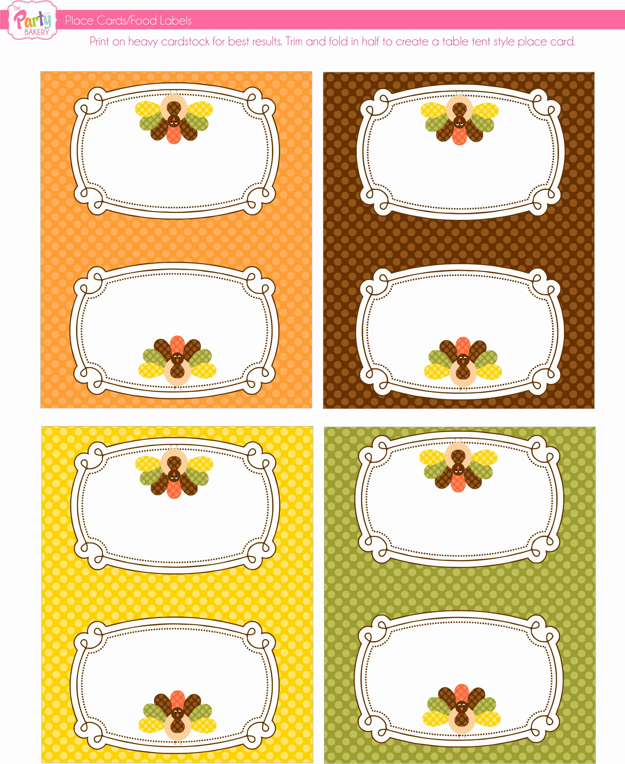 Free Printable Thanksgiving Templates Of  Best Of Printable Sheets For Thanksgiving Place Cards Template