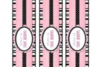 Free Printable Water Bottle Labels  Printables  Pink Water with Free Printable Water Bottle Labels Template