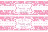 Free Printable Water Bottle Labels Template  Kreatief  Water for Free Water Bottle Labels For Baby Shower Template