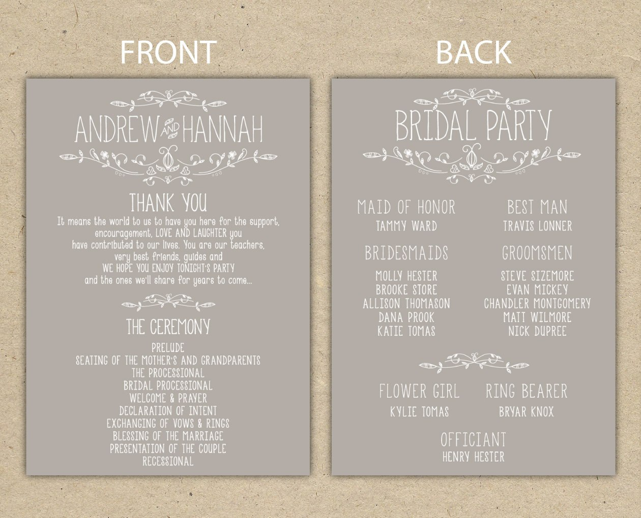 Free Printable Wedding Program Templates Downloadable Throughout Free Printable Wedding Program Templates Word