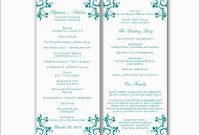 Free Printable Wedding Program Templates For Word Cute Free for Free Printable Wedding Program Templates Word