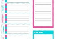 Free Printable Weekly Cleaning Checklist  Sarah Titus pertaining to Blank Cleaning Schedule Template