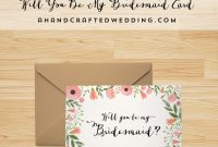 Free Printable Will You Be My Bridesmaid Card   Freebies   Be My for Will You Be My Bridesmaid Card Template
