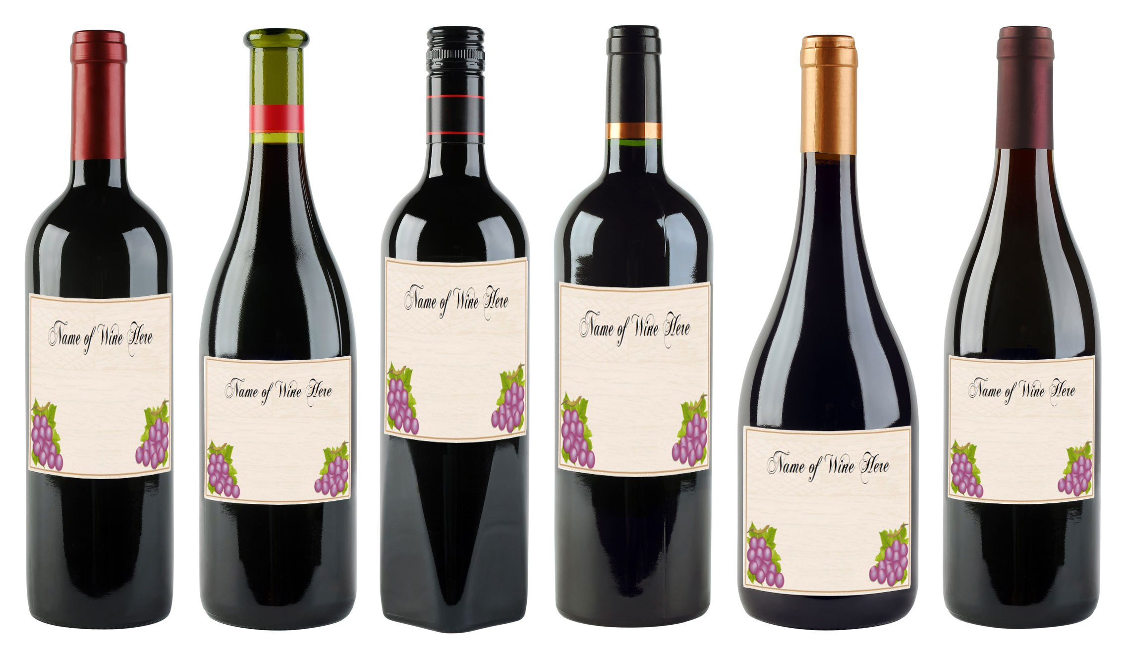 Free Printable Wine Labels You Can Customize  Lovetoknow In Wine Bottle Label Design Template