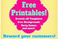 Free Printables Print Your Own Scratch Off Cards Party Games And in Scratch Off Card Templates