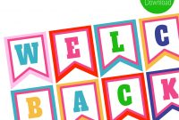 Free Printables Welcome Back Banner  Children's Ministry  Welcome for Welcome Banner Template