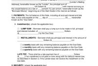 Free Promissory Note Templates  Pdf  Word  Eforms – Free Fillable in Legal Contract Template For Borrowing Money