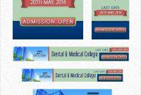 Free Psd Collegeuniversity Web Banner Ads Design Templates  Web for College Banner Template