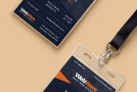 Free Psd  Vertical Company Identity Card Template Psd On Behance with regard to College Id Card Template Psd