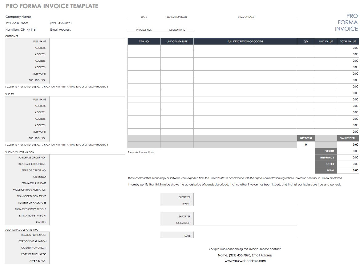 Free Purchase Order Templates  Smartsheet Pertaining To Load Confirmation And Rate Agreement Template