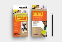 Free Rack Card Template Ideas Handyman Dl Sensational Photoshop regarding Free Rack Card Template Word
