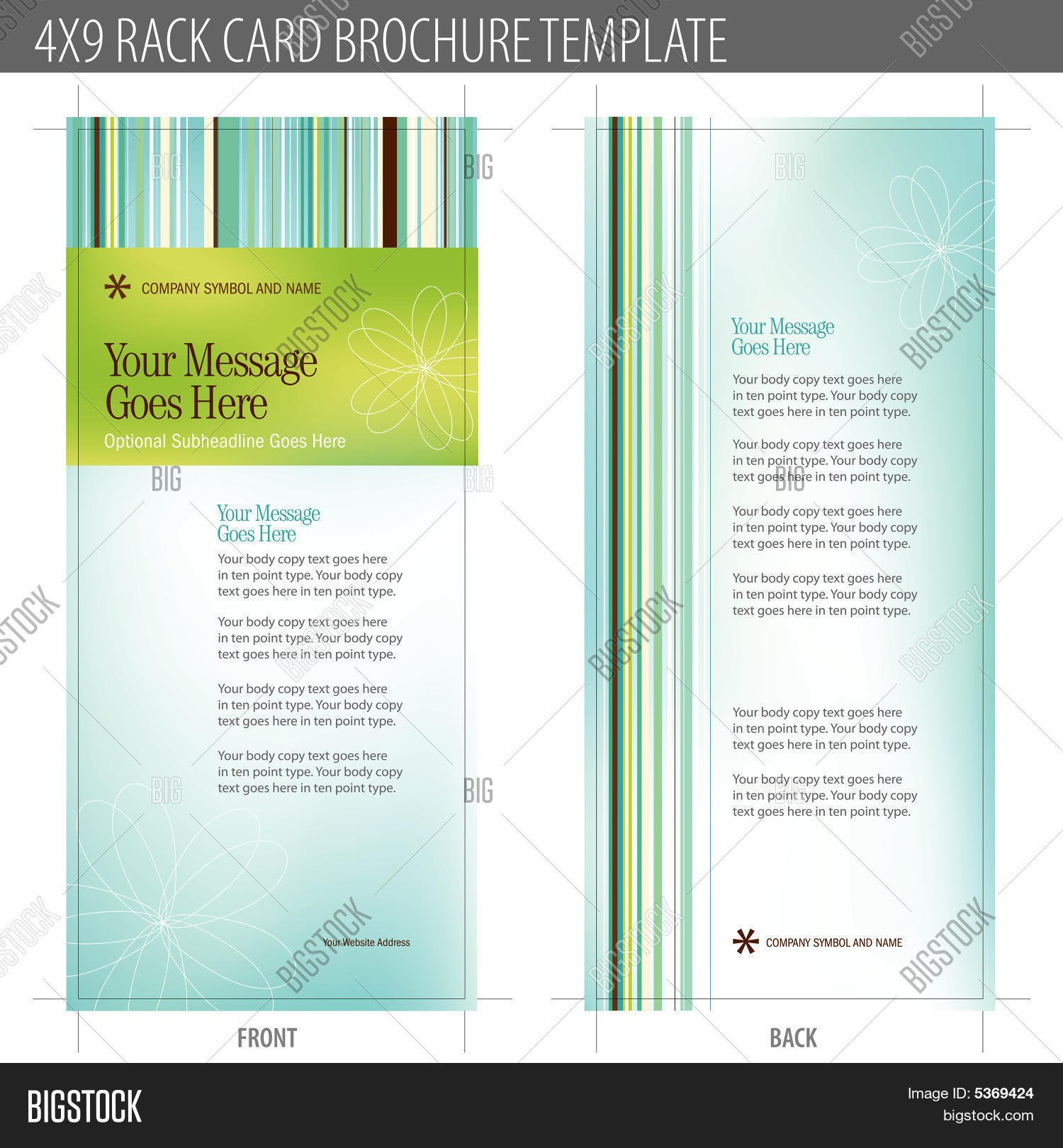 Free Rack Card Template Sensational Ideas Illustrator Photoshop Pertaining To Free Rack Card Template Word