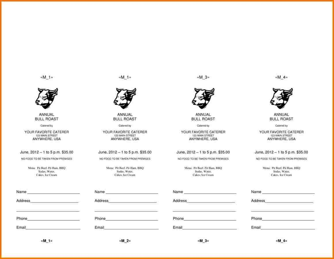 Free Raffle Ticket Template For Word  Authorization Letter Pdf Pertaining To Free Raffle Ticket Template For Word