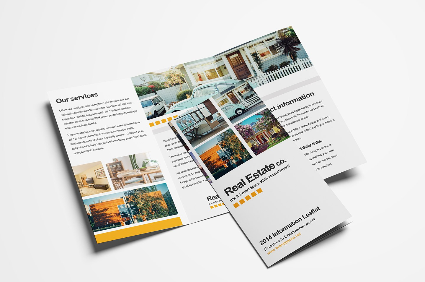 Free Real Estate Trifold Brochure Template In Psd Ai  Vector With 3 Fold Brochure Template Psd
