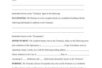 Free Rental Lease Agreement Templates  Residential  Commercial throughout Free Printable Residential Lease Agreement Template