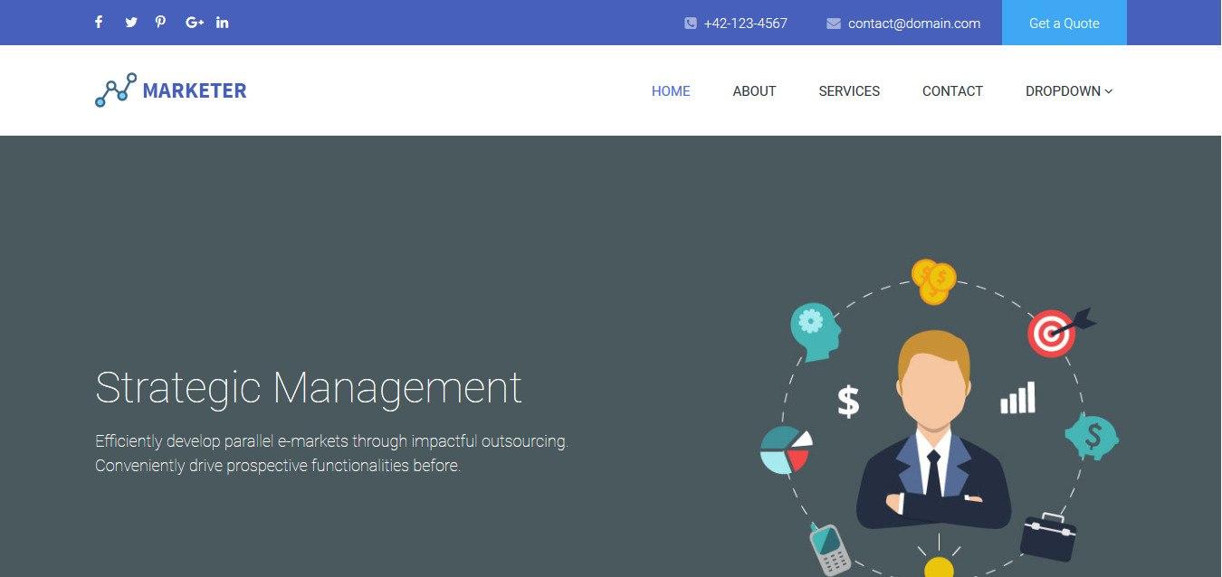 Free Responsive Business Website Templates   Uicookies Within Free Css Website Templates With Drop Down Menu