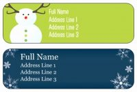 Free Return Address Label Template  Pictimilitude inside Christmas Return Address Labels Template