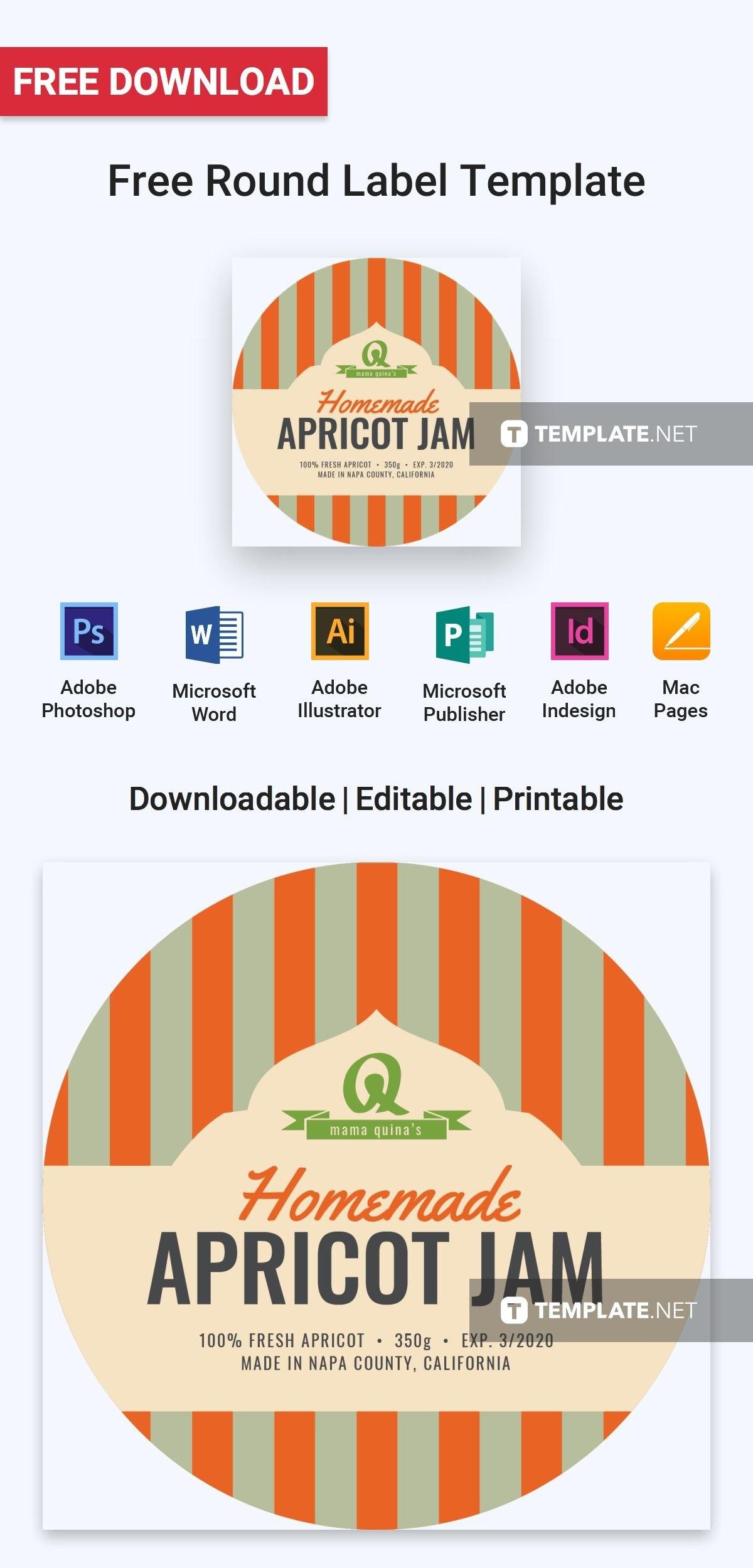 Free Round Label  Label Templates  Designs   Templates With Free Round Label Templates Download