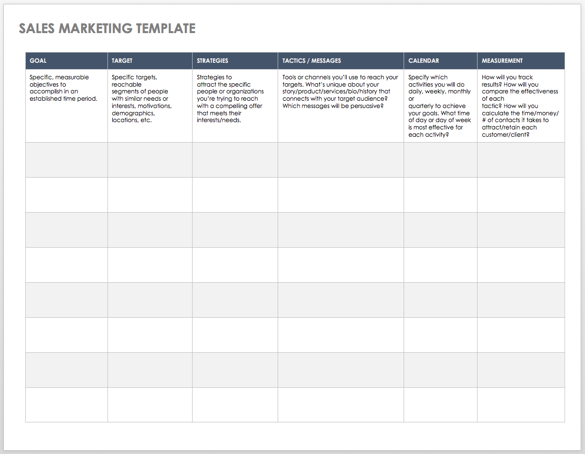 Free Sales Pipeline Templates  Smartsheet With Sales Team Report Template
