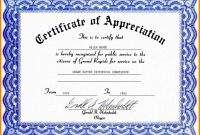 Free Sample Certificate Appreciation Certificate Of Appreciation in Gratitude Certificate Template
