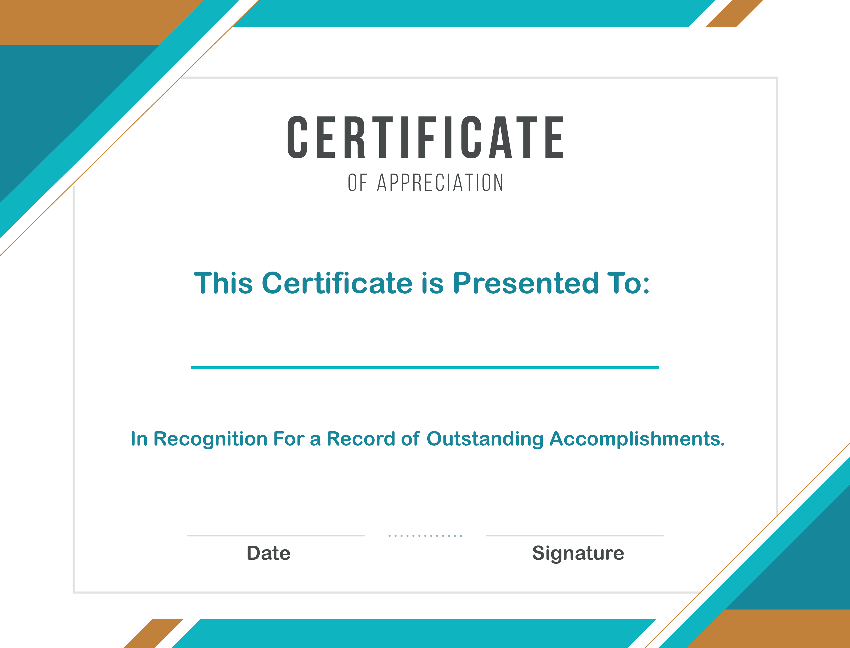 Free Sample Format Of Certificate Of Appreciation Template Word With Free Template For Certificate Of Recognition