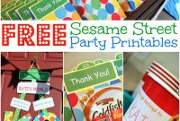 Free Sesame Street Birthday Party Printables regarding Sesame Street Label Templates
