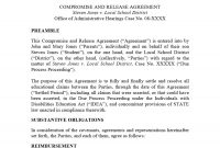 Free Settlement Agreement Templates Divorcedebtemployment within Negotiated Settlement Agreement Sample
