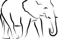 Free Simple Elephant Outline Download Free Clip Art Free Clip Art intended for Blank Elephant Template