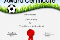 Free Soccer Certificate Maker  Edit Online And Print At Home with regard to Soccer Award Certificate Templates Free