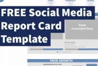 Free Social Media Report Card Template Photoshop Psd  Youtube for Free Social Media Report Template