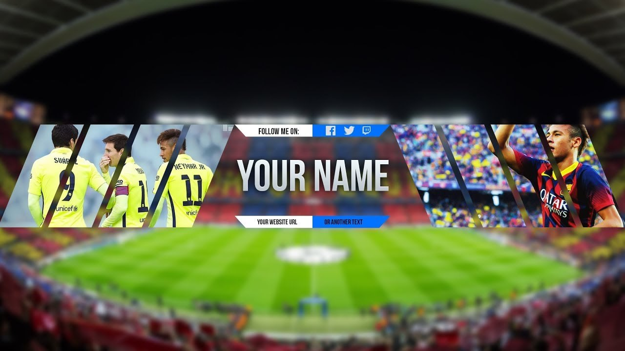 Free Sport Banner Template For Youtube Channel  Photoshop I Pertaining To Sports Banner Templates