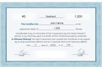Free Stock Certificate Online Generator inside Corporate Share Certificate Template