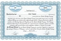 Free Stock Certificate Online Generator throughout Llc Membership Certificate Template Word