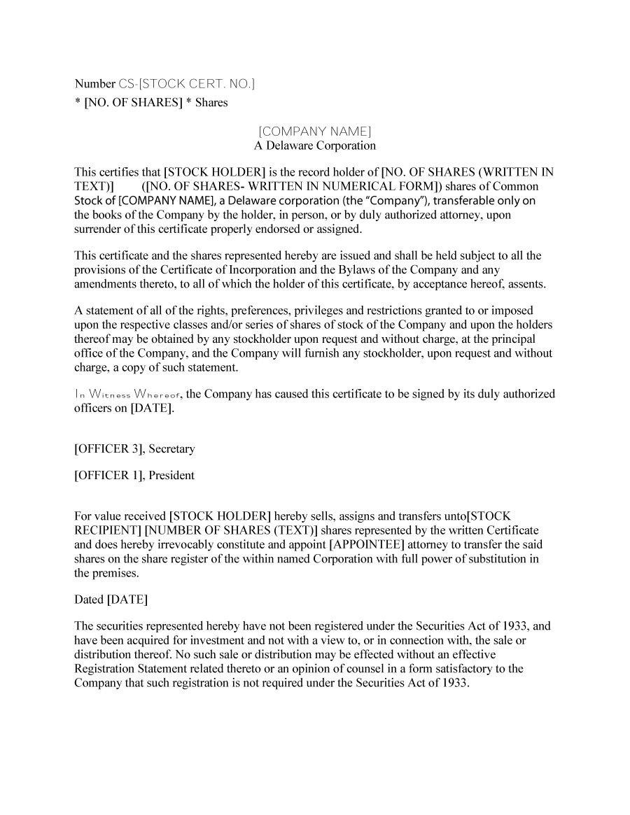 Free Stock Certificate Templates Word Pdf ᐅ Template Lab Regarding Corporate Secretary Certificate Template
