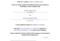 Free Stock Certificate Templates Word Pdf ᐅ Template Lab within Corporate Share Certificate Template