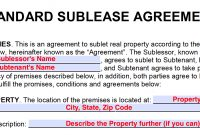 Free Sublease Agreement Templates – Pdf And Word Docx within Sublease Commercial Agreement Template