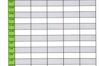Free Template For A Daily Schedule  Weekly Class Schedule Template throughout Blank Audiogram Template Download
